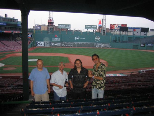 Before performing at Fenway Park